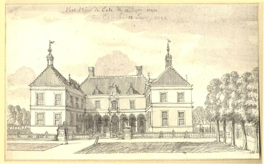 Ehze in Almen. Tekening Jan de Beijer, 1743
